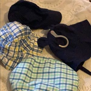 Four baby boys hats